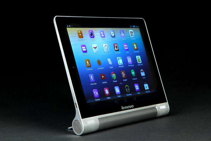 lenovo yoga tablet  review tablets front standing angle