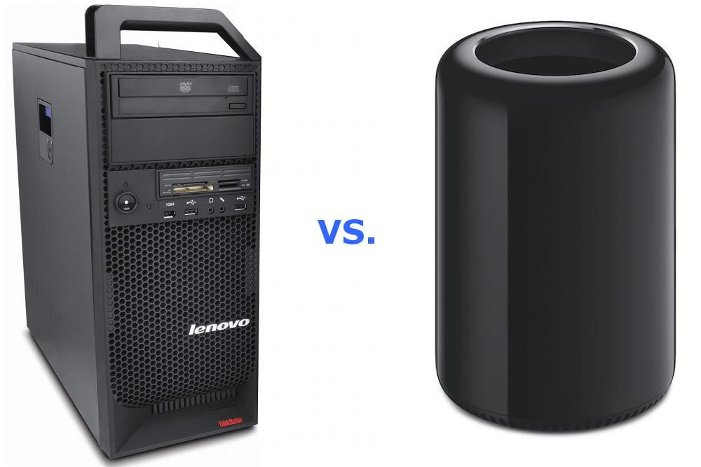 entry level mac pro priced similar pc workstations diy still less lenovovsmacpro