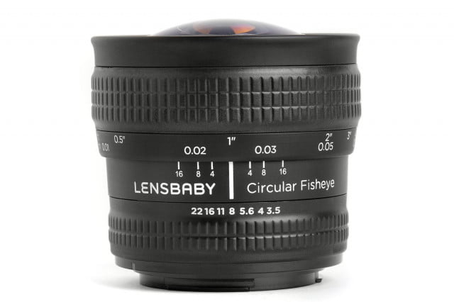lensbaby introduces  mm f circular fisheye lens canon nikon dslrs