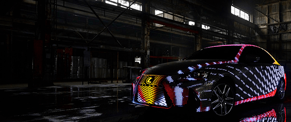 Lexus stuck 42,000 LED lights on a car to create this dazzling light show