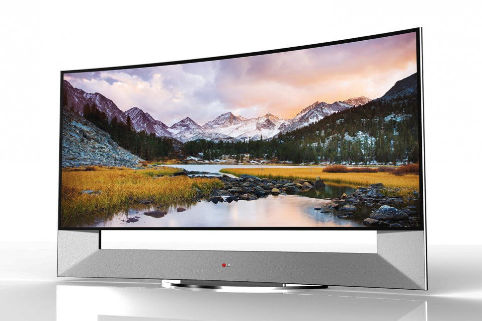 LG 105 inch curved 4K front