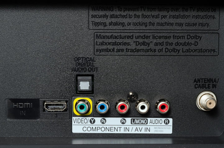 lg  ln review inch class p led tv rear ports inputs macro