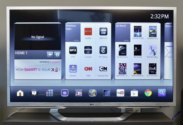 LG 55G2 Review google tv front internet tv
