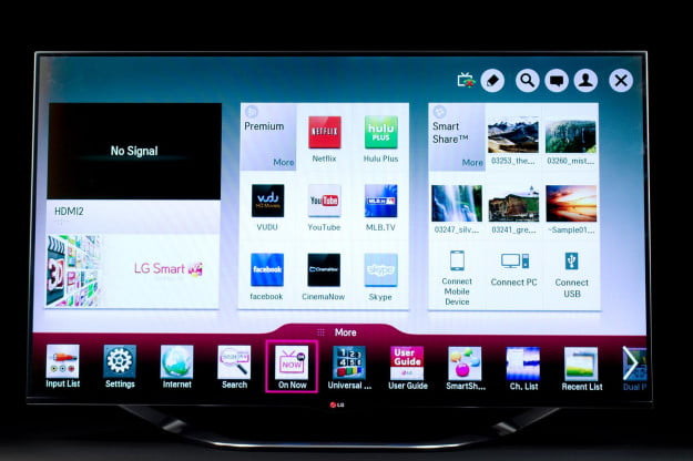 LG 55LA8600 LED TV front on