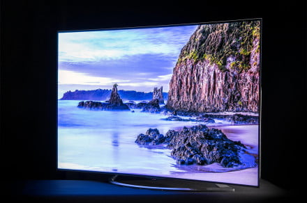 LG 65EC9700 4K OLED TV review front angle