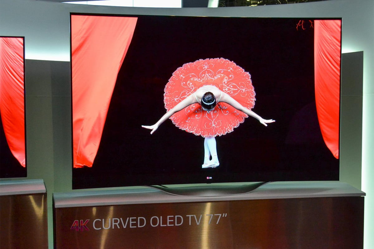 ultra hd tv shipments surpassed one million march lg  inch oled curved k