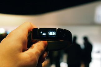 LG Fitness tracker in hand 4