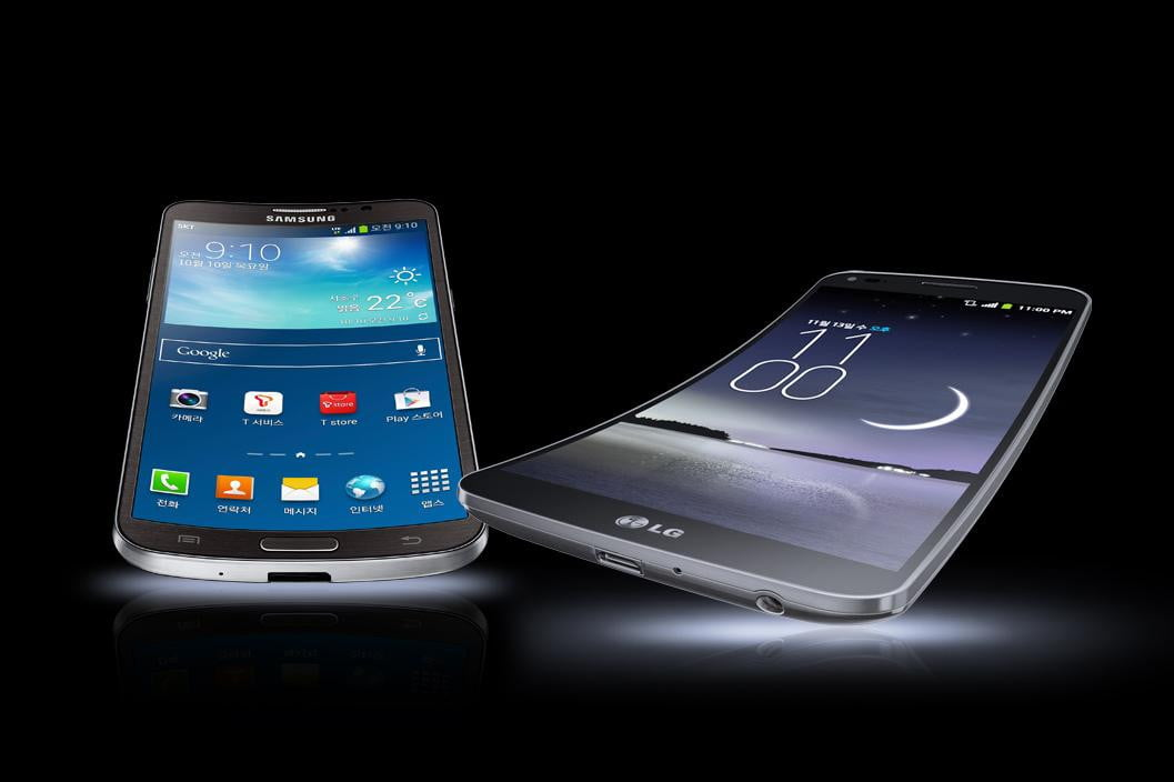 curved screens gimmick or next big thing lg g flex samsung galaxy round