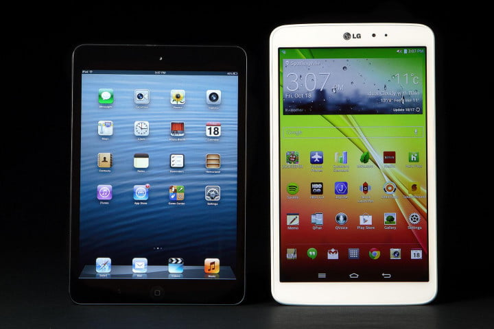 nexus  vs lg g pad galaxy note kindle fire hdx android tablet battle ipad comparison