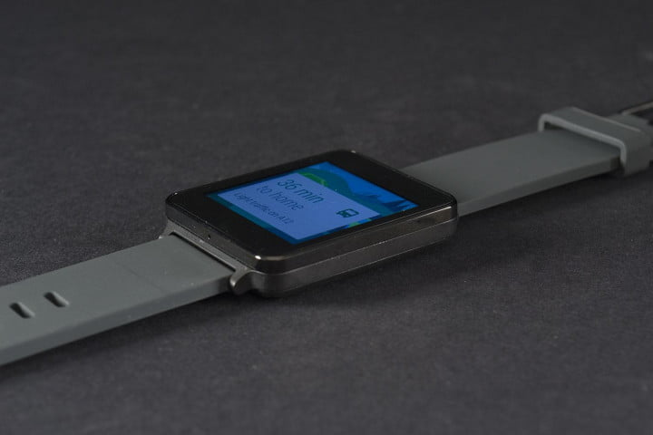 lg g watch review smartwatch face angle