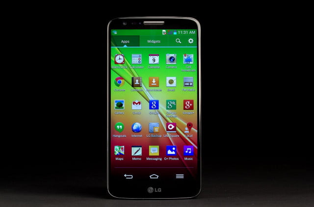 LG G2 Phone front home screen
