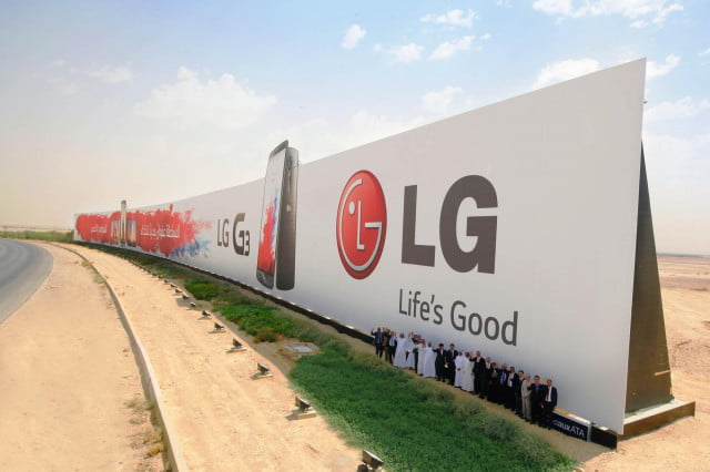 lg guinness world record largest outdoor advertisement g  ad