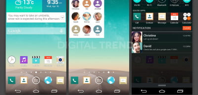 These three screenshots, given to DT by a trusted industry source, show the new redesigned LG G3 interface.