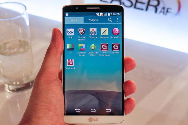 disable apps android lg g  hands on screen