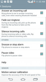 LG G3 work review screens gestures