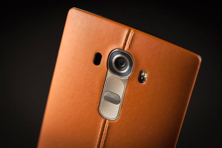 lg g  review leather update back camera angle