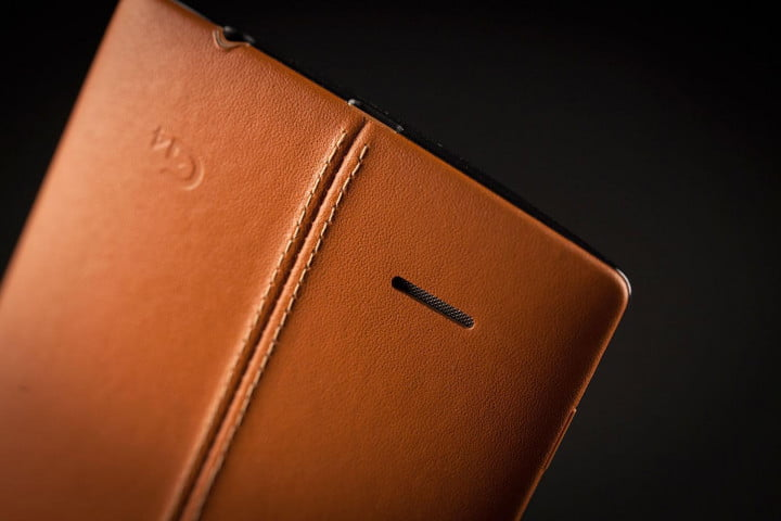 lg g  review leather update back speaker angle