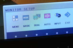 LG IPS235V monitor review menu