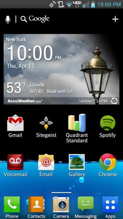 lg lucid  review screenshot home screen