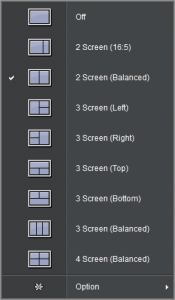 Screen Split allows you to pick a variety of window layouts.