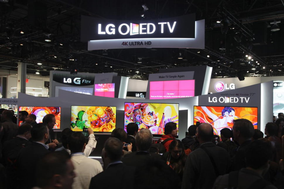 LG's OLED lineup as shown at CES 2014