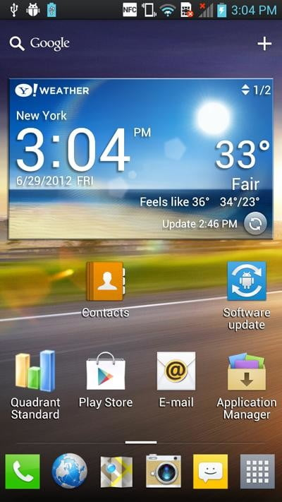 lg optimus 4x hd software android home screen