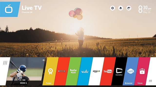 lg webos tv platform smart web live