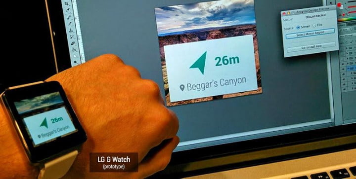 moto  lg g watch android wear