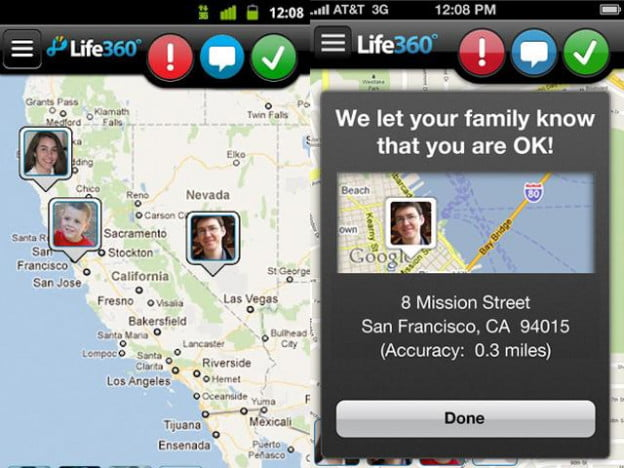 life 360 family locator screenshot ios android app