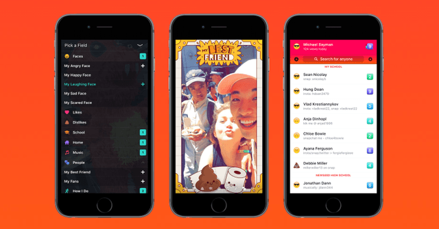 facebook introduces lifestage app compete snapchat