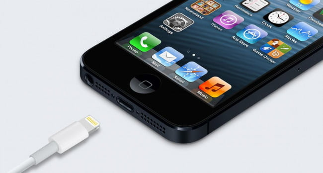 iPhone 5 with lightning connector