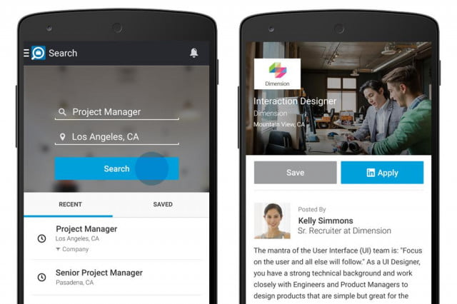 linkedin launches its job search app for android users