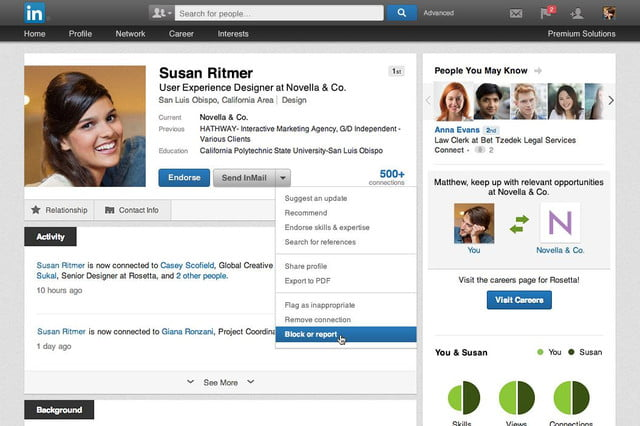 linkedin launches blocking feature
