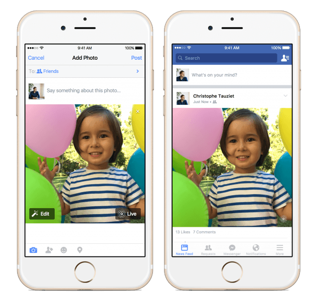 Uploading Live Photos on Facebook is now as easy as tapping a button.