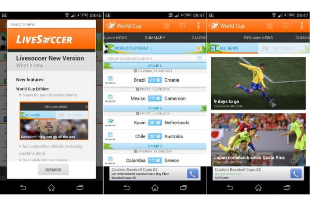 LiveSoccer World Football Cup app