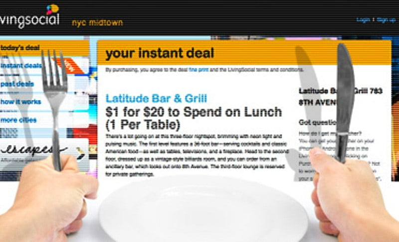 Livingsocial pairs real time discounts with room service for Livingsocial x room