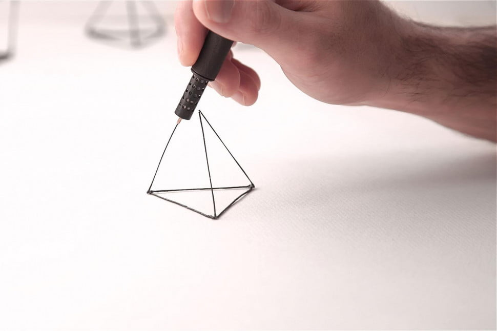 The lix 3d printing pen lets you literally draw in the air pictures