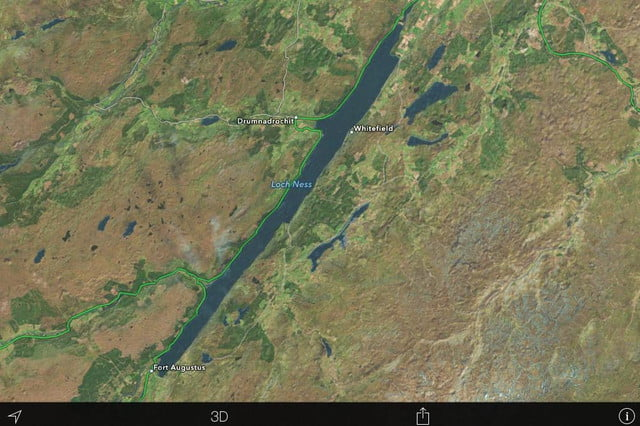 loch ness monster spotted albeit on apple maps