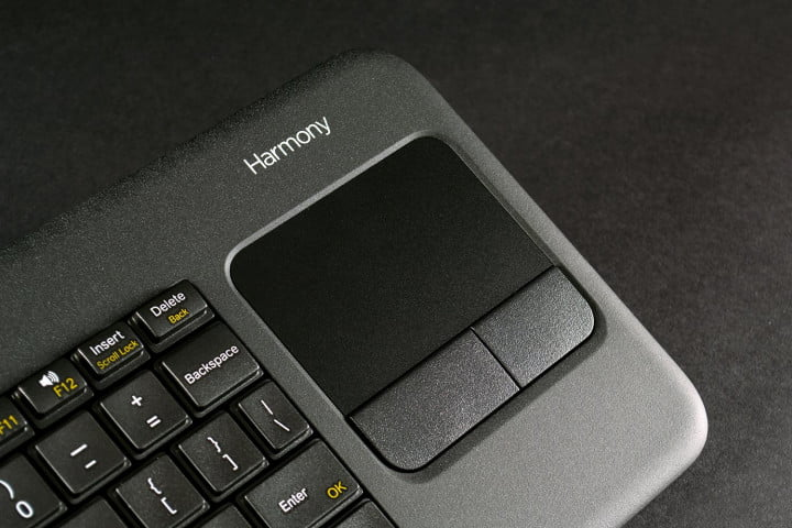 logitech harmony smart keyboard review touchpad