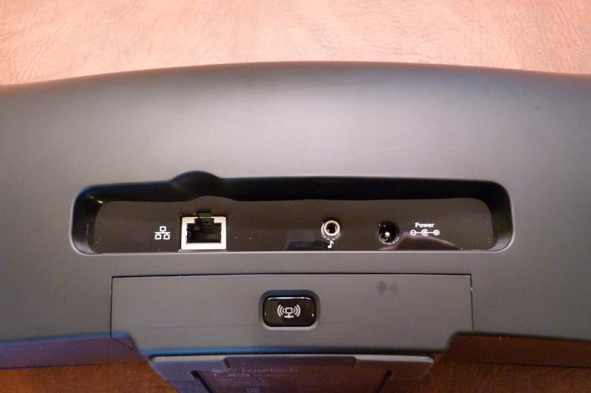Logitech Speaker back view with ports