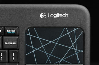 Logitech Wireless Touch Keyboard K400 touchpad buttons