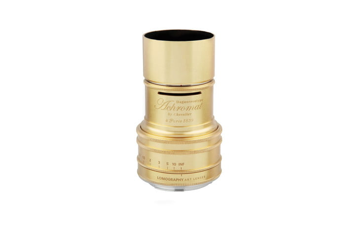 tomography daguerreotype lens available for preorder lomography achromat  art brass top white background