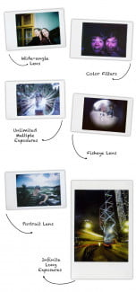 The types of photos you can shoot with the Lomo'Instant (click to enlarge).