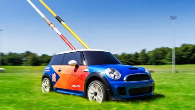 London Olympics to use radio controlled Mini Coopers to haul Track and Field gear