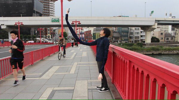 long-arm selfie stick