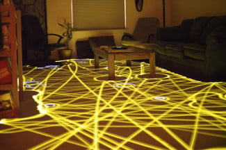 Long Exposure of a Roomba's path