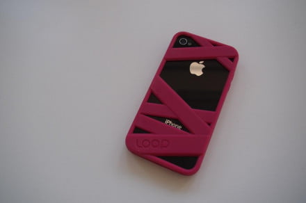Loop Attachment Mummy iPhone case pink