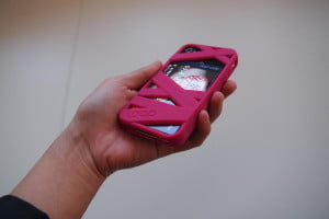 Loop attachment mummy iphone case back