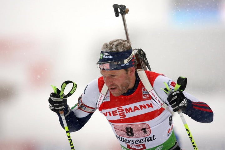 shoot ski record biathletes use tech stay target lowell bailey biathlon