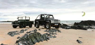 Defender SVX beaches it up with the original Defender